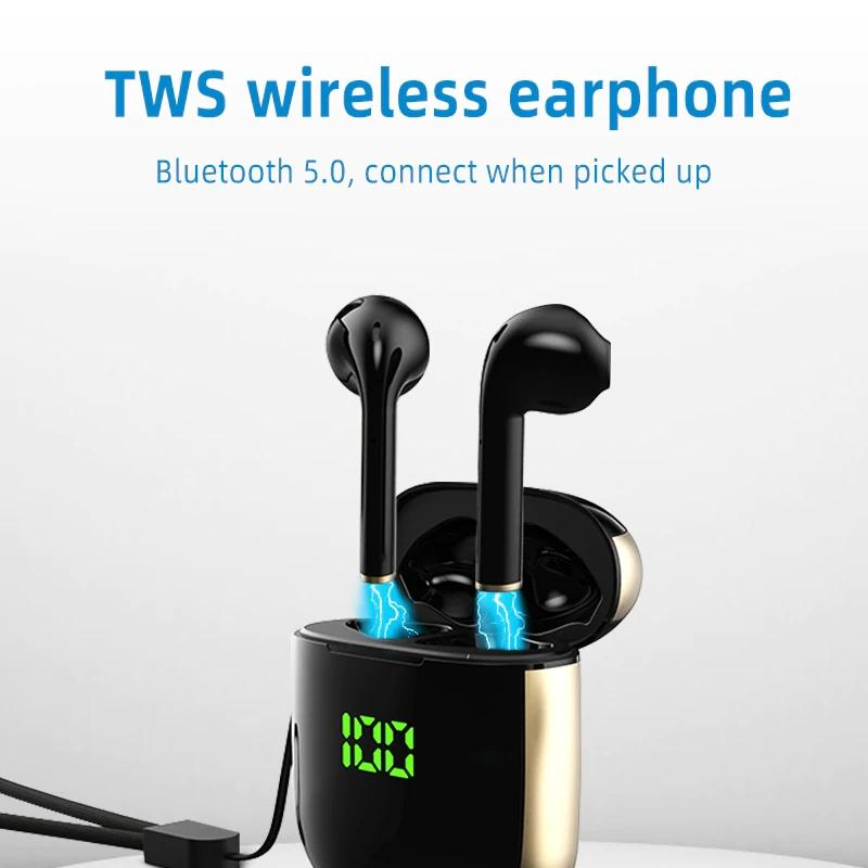 Hantoper Bluetooth Earphones TWS 5.0 Wireless Earbuds Headphones & Speakers - DailySale