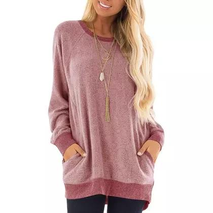 Haute Edition Women's Ultra Soft Long Sleeve Pullover Sweatshirt Women's Clothing Pink S - DailySale