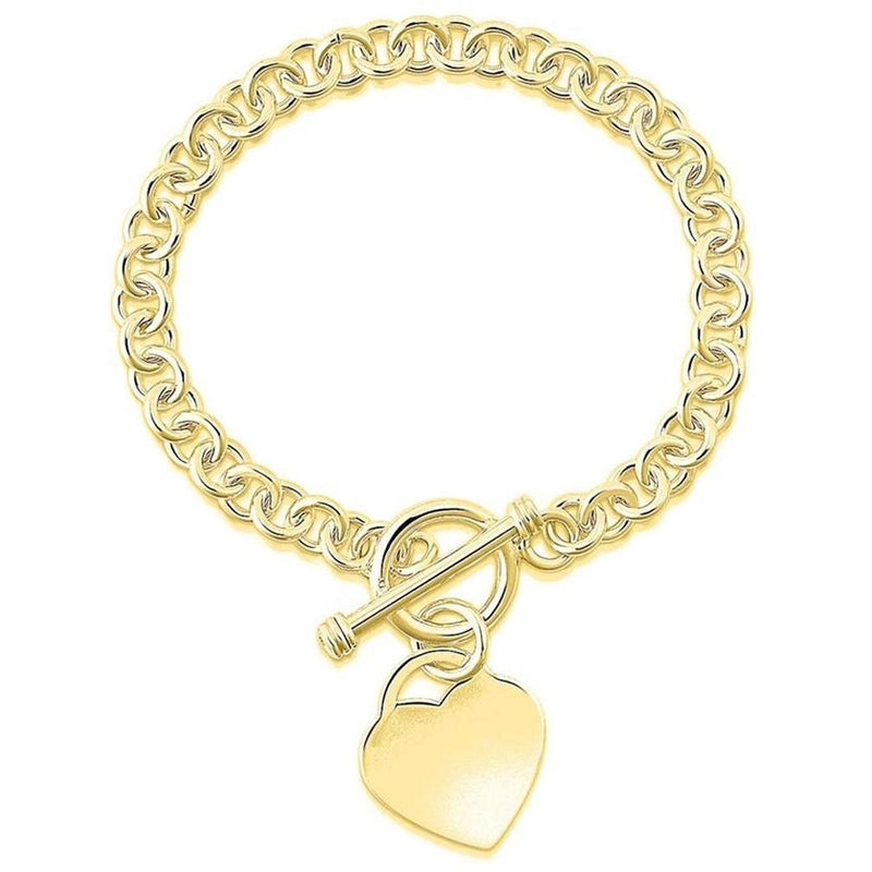 Heart Charm Bracelet - Assorted Colors Jewelry Gold - DailySale