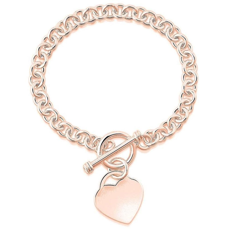 Heart Charm Bracelet - Assorted Colors Jewelry Rose Gold - DailySale