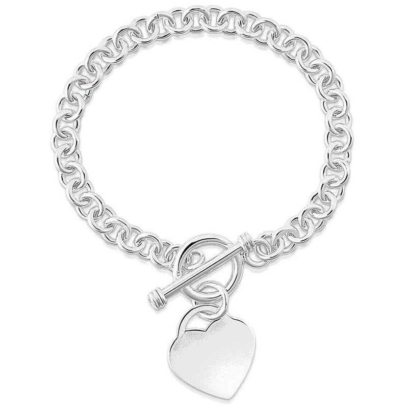Heart Charm Bracelet - Assorted Colors Jewelry Silver - DailySale