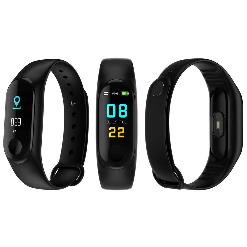 Heart-Rate and Sleep-Monitoring Activity Tracker with Color Display Gadgets & Accessories Black - DailySale