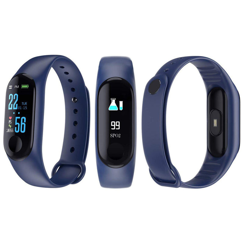Heart-Rate and Sleep-Monitoring Activity Tracker with Color Display Gadgets & Accessories Blue - DailySale