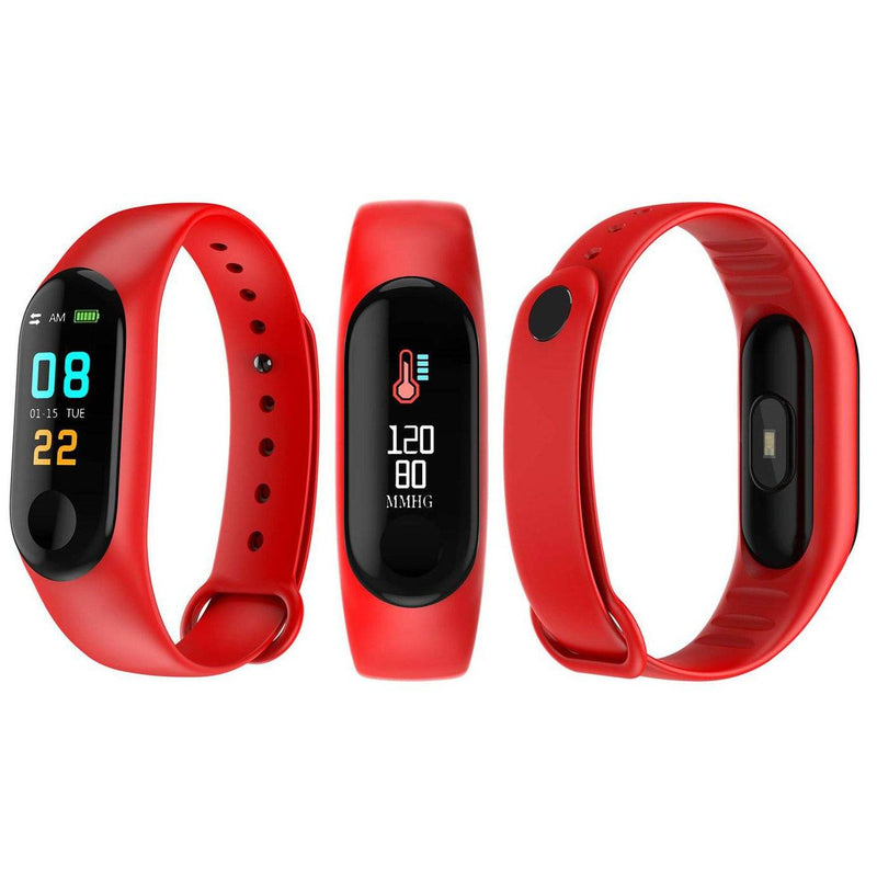 Heart-Rate and Sleep-Monitoring Activity Tracker with Color Display Gadgets & Accessories Red - DailySale