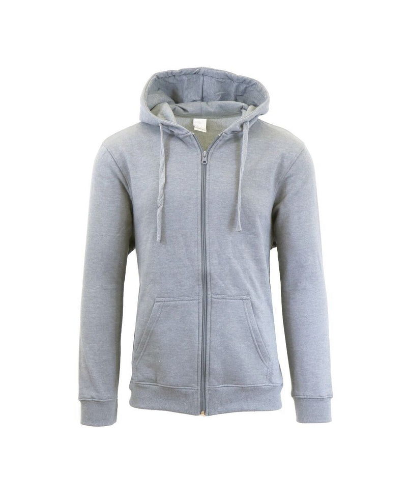Heavy Fleece Lined Zippered or Pullover Hoodie - Size XXXL Men's Apparel Heather Gray Zipper - DailySale