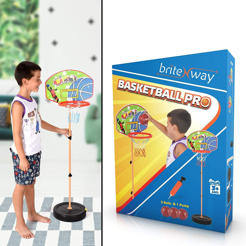Height Adjustable Kids Basketball Hoops Set Toys & Games - DailySale