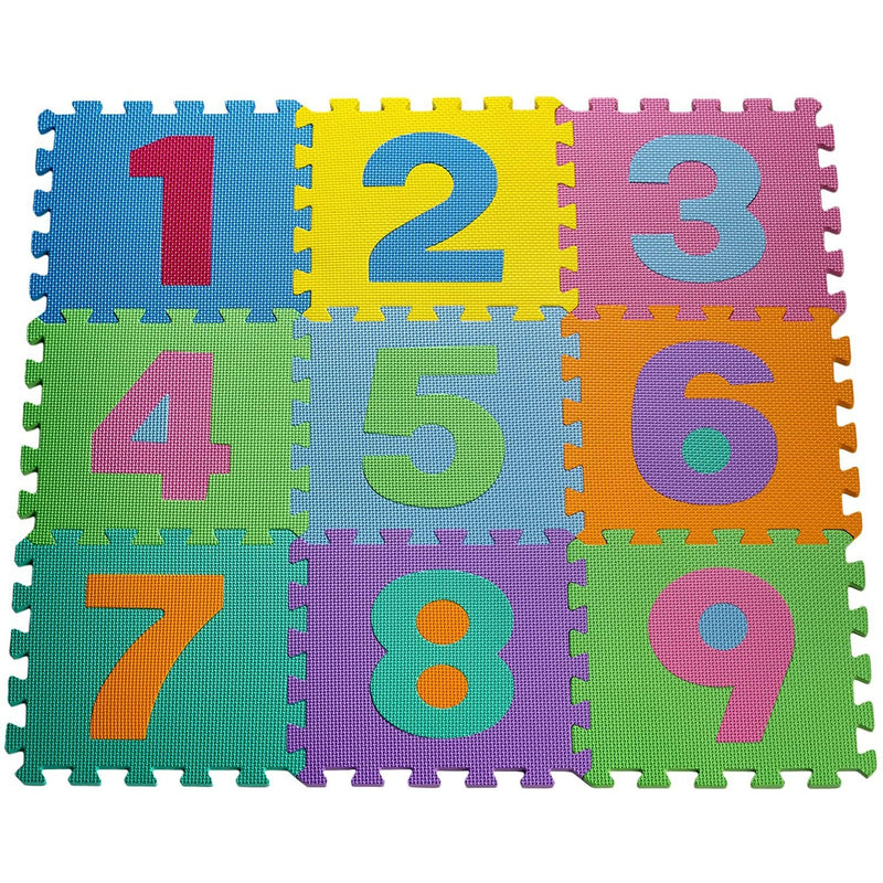 HemingWeigh Kid's Multicolored Numbers Puzzle Play Mat Toys & Games - DailySale