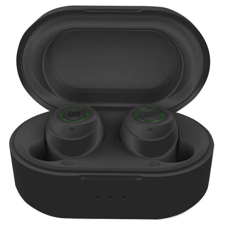 HiFuture Tidy Buds True Wireless Bluetooth Earbuds with Wireless Charging Case Headphones & Speakers Black - DailySale