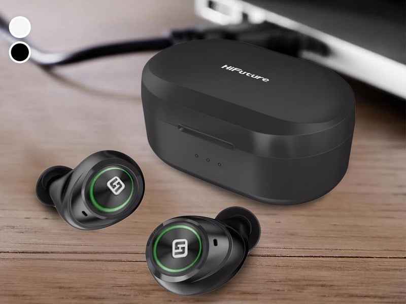 HiFuture Tidy Buds True Wireless Bluetooth Earbuds with Wireless Charging Case Headphones & Speakers - DailySale