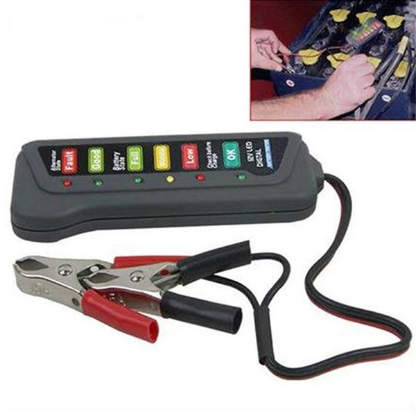 High Quality LED Digital Battery Alternator Tester for Car Motorcycle Trucks 12V Automotive - DailySale