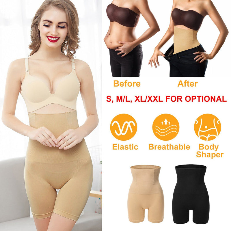 High Waist Shapewear Seamless Tummy Control Panties Women's Clothing - DailySale
