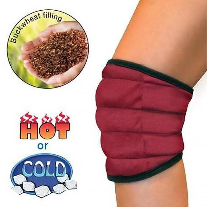 Hot/Cold Pain Relief Buckwheat Knee Wrap Wellness & Fitness - DailySale