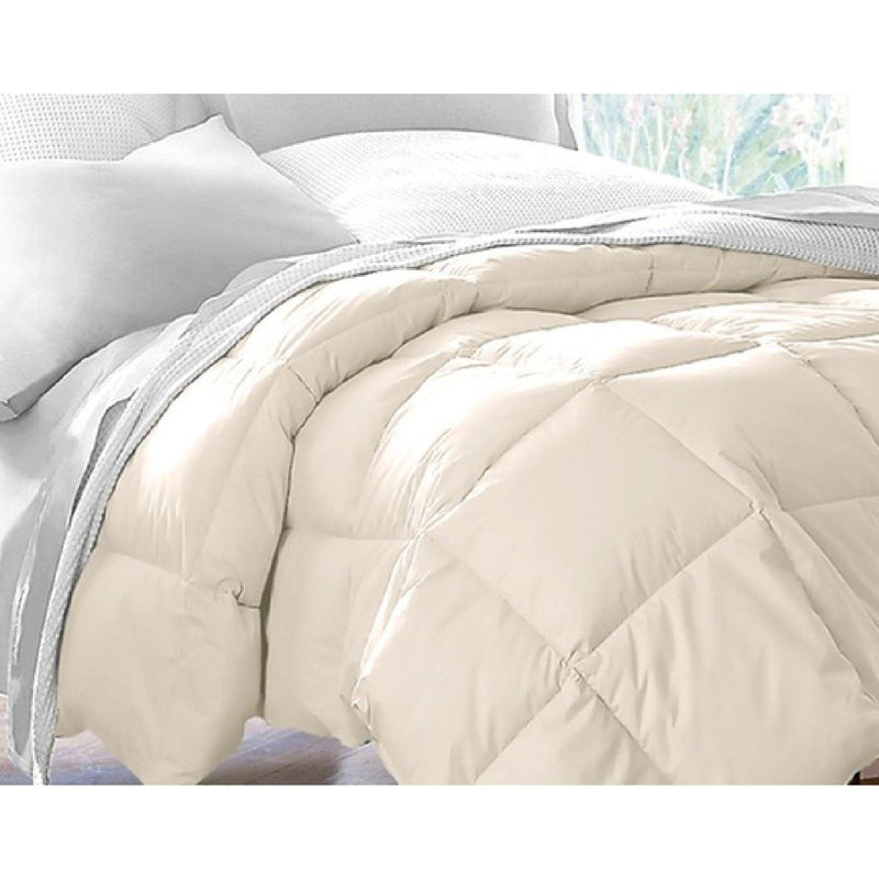 Hotel Grand All Seasons Down Alternative Comforter - Assorted Colors and Sizes Linen & Bedding Full Ivory - DailySale