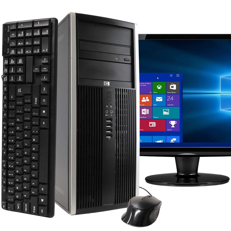 "HP Compaq Elite 8100 Tower Computer PC with 22"" Wide Screen Monitor Desktops 1TB SATA 8GB RAM - DailySale"