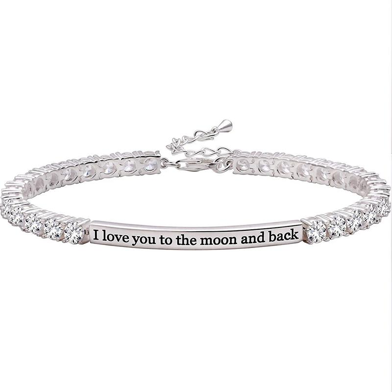 I Love You to the Moon and Back Bracelet Jewelry - DailySale