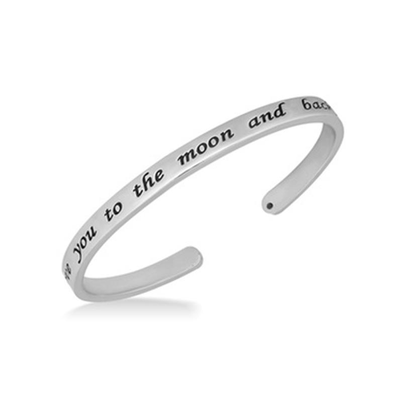 I Love You To The Moon and Back Cuff Bracelet Jewelry - DailySale