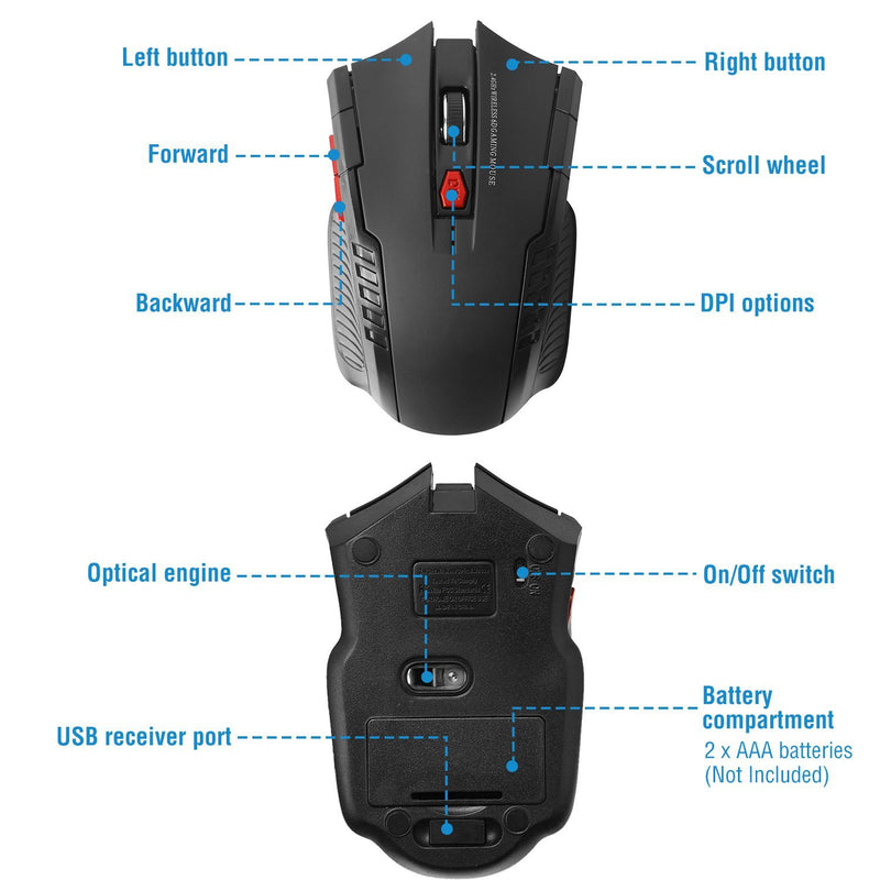 iMountek 2.4G Wireless Gaming Mouse Computer Accessories - DailySale