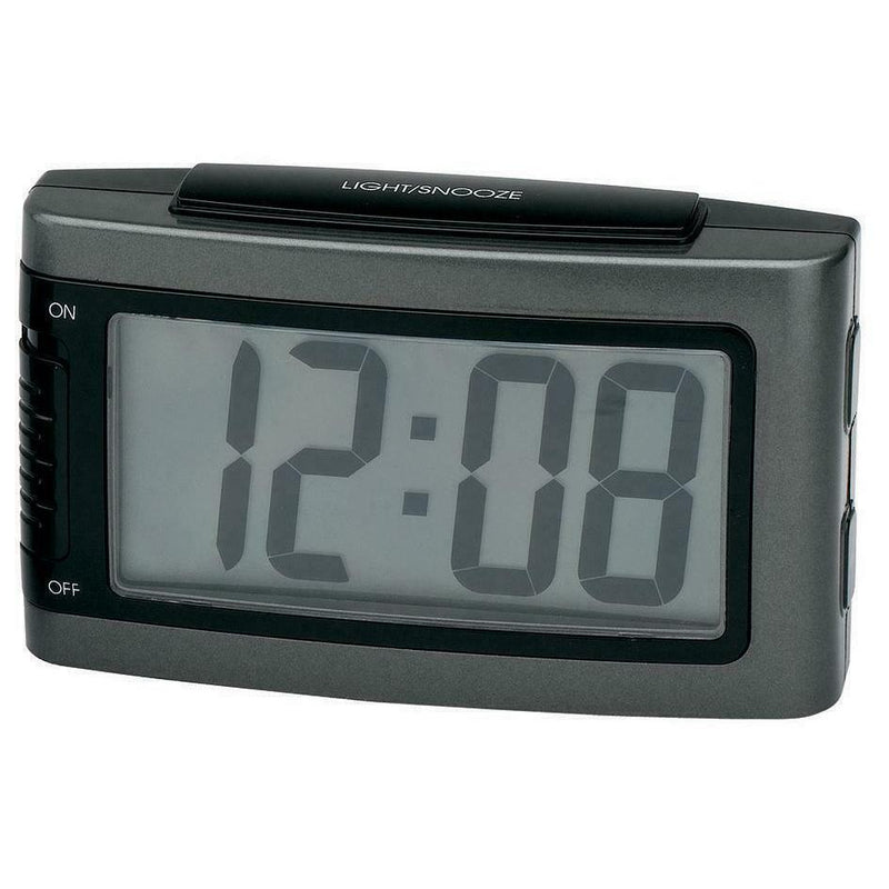 Impecca Battery Alarm Clock with Snooze Household Appliances Gray - DailySale
