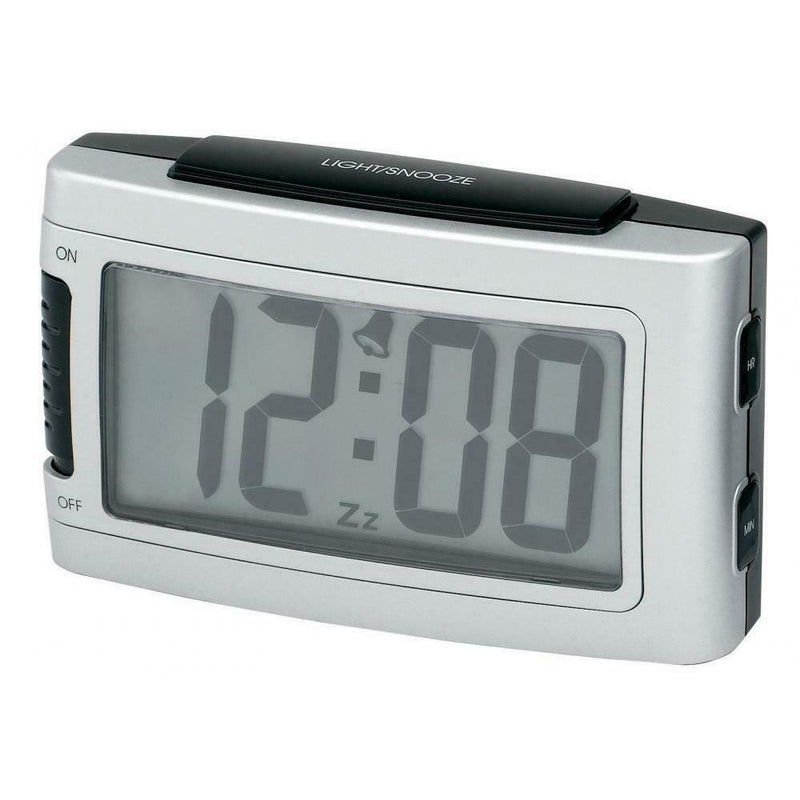 Impecca Battery Alarm Clock with Snooze Household Appliances Silver - DailySale