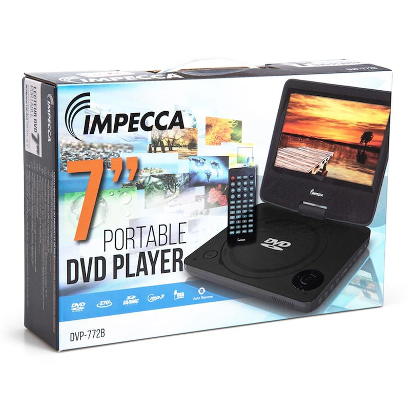 Impecca DVP-772K 7-inch Swivel Screen DVD Player Gadgets & Accessories - DailySale