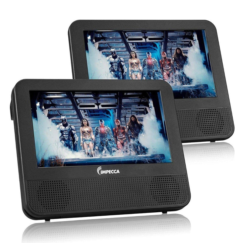 Impecca DVPDS-722 7in Dual Screen Dvd Player Gadgets & Accessories - DailySale