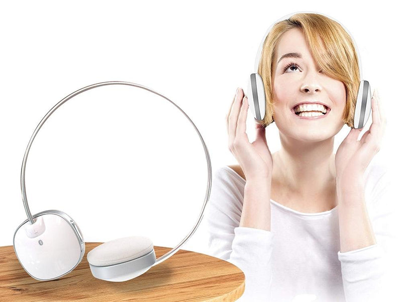 Impecca HSB100W Bluetooth Stereo Headset with Built in Microphone Headphones & Speakers - DailySale