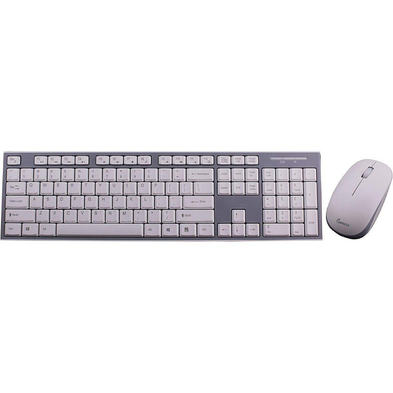 Impecca Wireless Keyboard and Mouse Combo Tablets & Computers White/Gray - DailySale