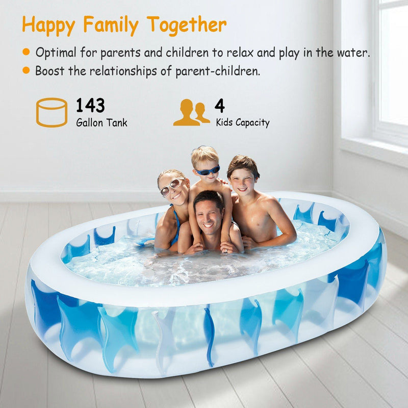Inflatable Swimming Pool - 90×60×20""