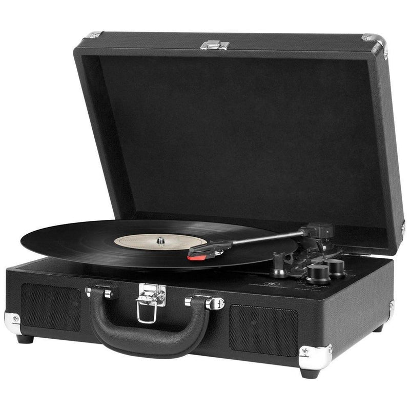 Innovative Technology Nostalgic 3-Speed Vintage Suitcase Turntable Gadgets & Accessories - DailySale