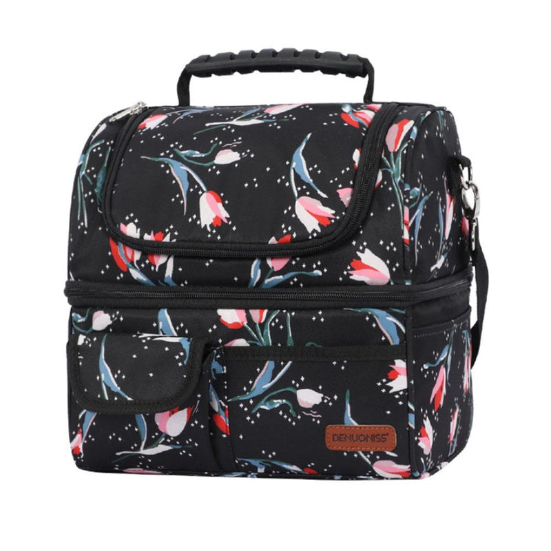 Insulated Multi-Compartment Lunch Box Bags & Travel Tulips - DailySale