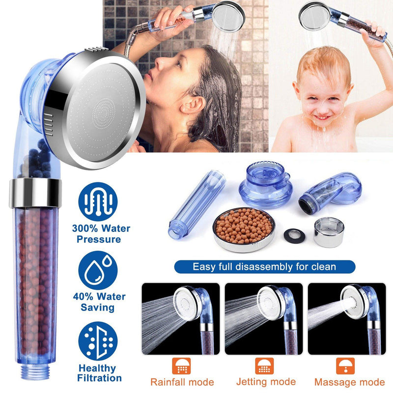 Ionic High Pressure Filter Shower Head Bath - DailySale