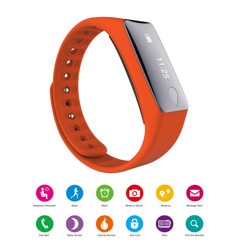 IP67 Fitness Tracker Watch with Heart Rate Monitor and Step Counter
