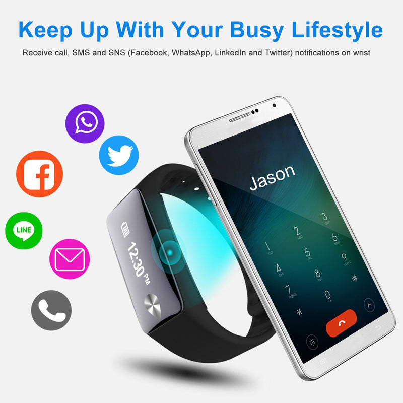 IP67 Fitness Tracker Watch with Heart Rate Monitor and Step Counter Smart Watches - DailySale