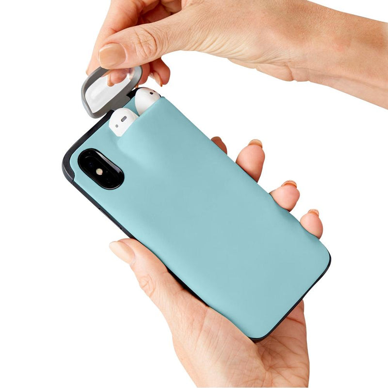 iPhone Case With AirPods Holder Phones & Accessories Blue iPhone 7/8 - DailySale