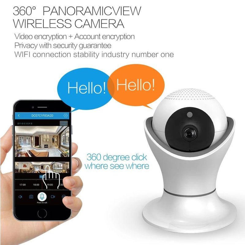 iPM World HD 360 Degree Panoramic View 1080p Wireless IP Camera Gadgets & Accessories - DailySale