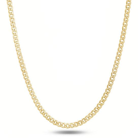 "Italian 14K Yellow Gold Curb Link Chain Necklace Jewelry 16"" - DailySale"