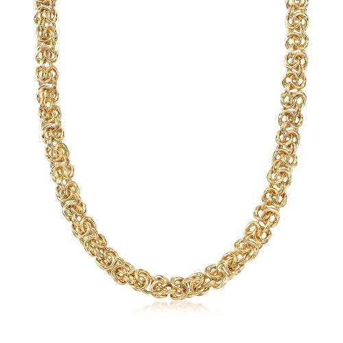 Italian Gold Byzantine Necklace Jewelry - DailySale