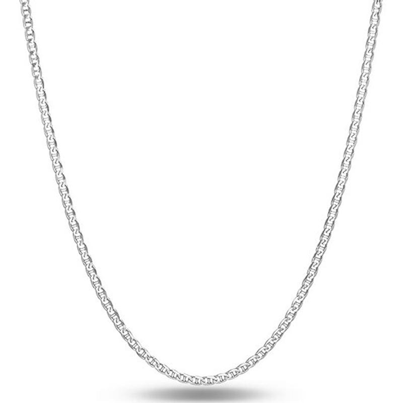 "Italian Sterling Silver Mariner Link Chain Jewelry 16"" - DailySale"