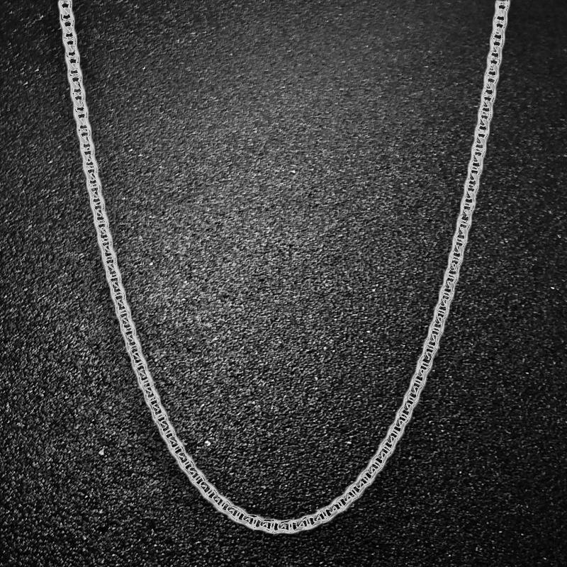 Italian Sterling Silver Mariner Link Chain Jewelry - DailySale