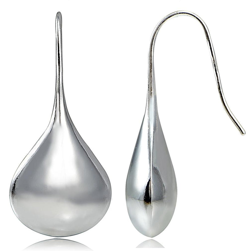 Italian Sterling Silver Puffed Teardrop Earrings Jewelry - DailySale