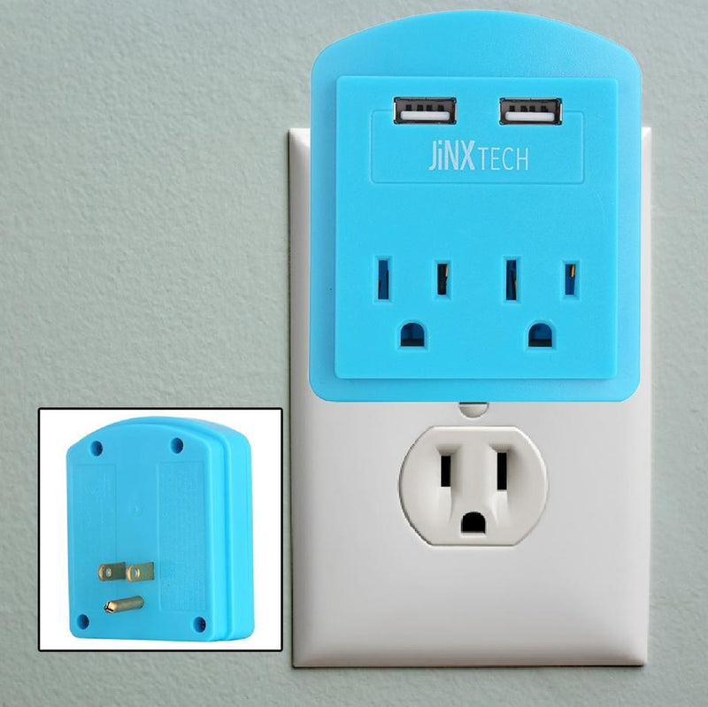 JinxTech 2-Outlet Wall Tap with Dual USB Gadgets & Accessories - DailySale