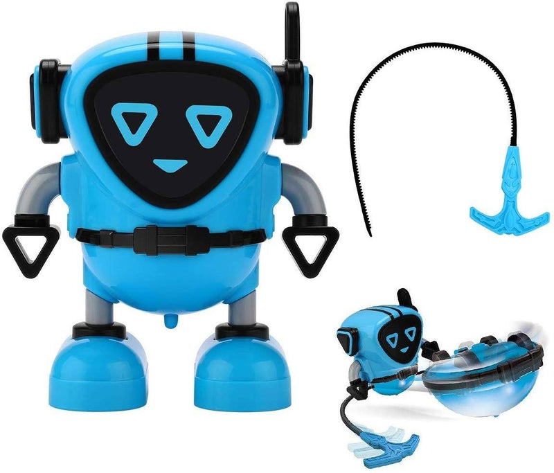 JJRC R7 Gyro Pull Back Robot Children Educational Toy Toys & Games Blue - DailySale