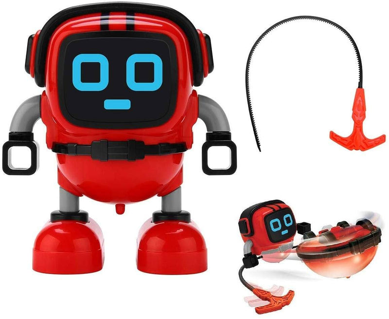 JJRC R7 Gyro Pull Back Robot Children Educational Toy Toys & Games Red - DailySale