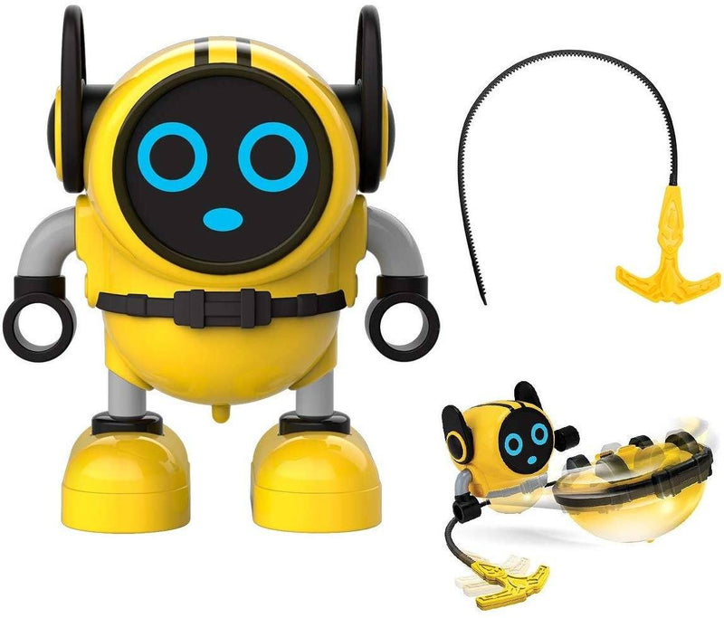 JJRC R7 Gyro Pull Back Robot Children Educational Toy Toys & Games Yellow - DailySale