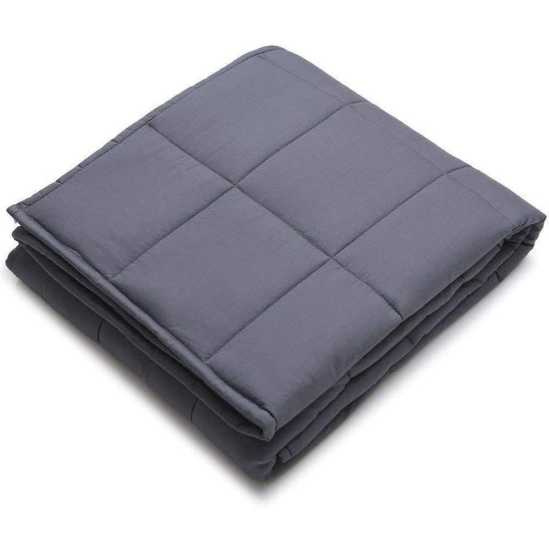 "Kathy Ireland Weighted Blanket with Glass Beads Linen & Bedding 48"" x 72"" - 12 lb Charcoal - DailySale"