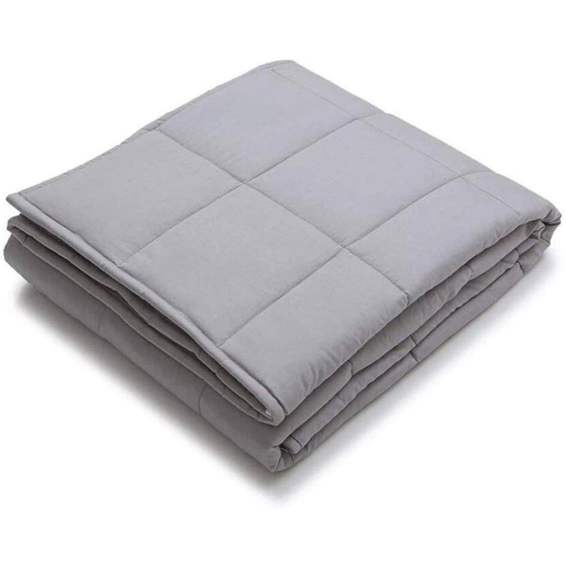 "Kathy Ireland Weighted Blanket with Glass Beads Linen & Bedding 48"" x 72"" - 12 lb Silver - DailySale"