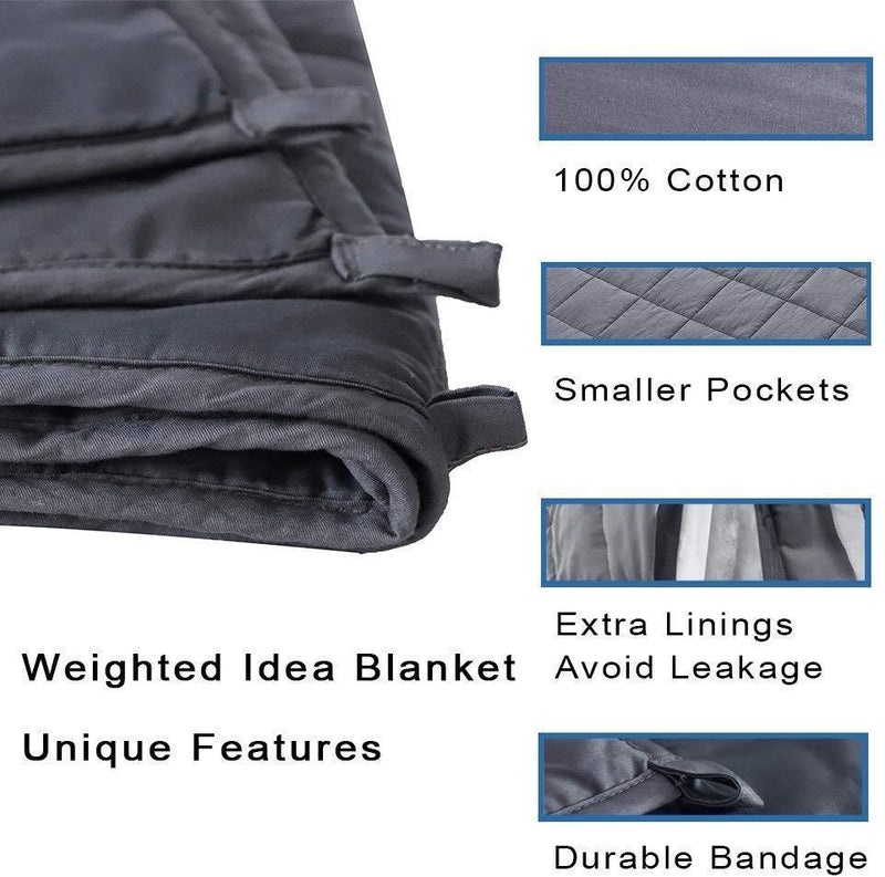 Kathy Ireland Weighted Blanket with Glass Beads Linen & Bedding - DailySale