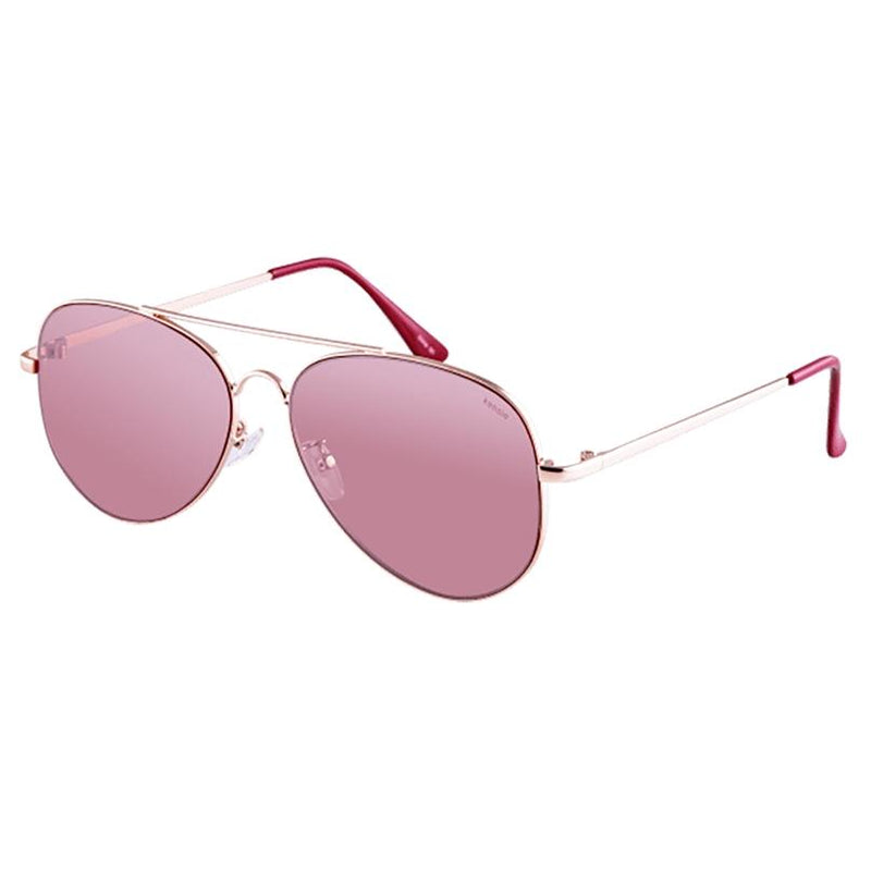 Kensie Carissa Women's Shiny Metal Aviator Sunglasses Women's Apparel Rose Gold/Red - DailySale