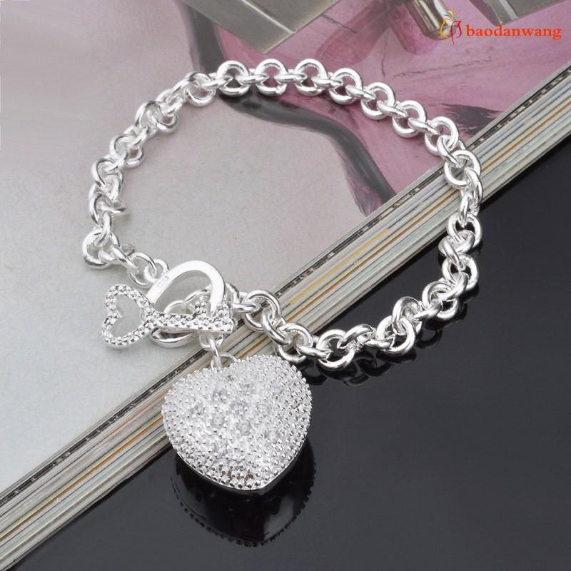 """Key To My Heart"" Toggle Charm Bracelet Jewelry - DailySale"
