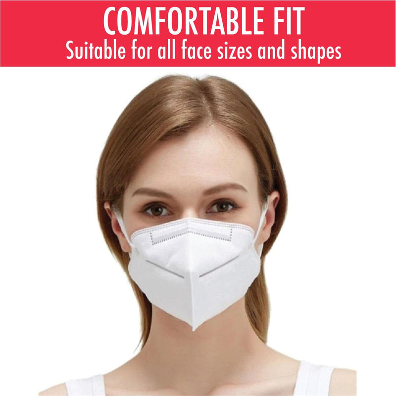 KN95 Protective Breathable Outdoor Face Mask with Nose Clip Wellness & Fitness - DailySale